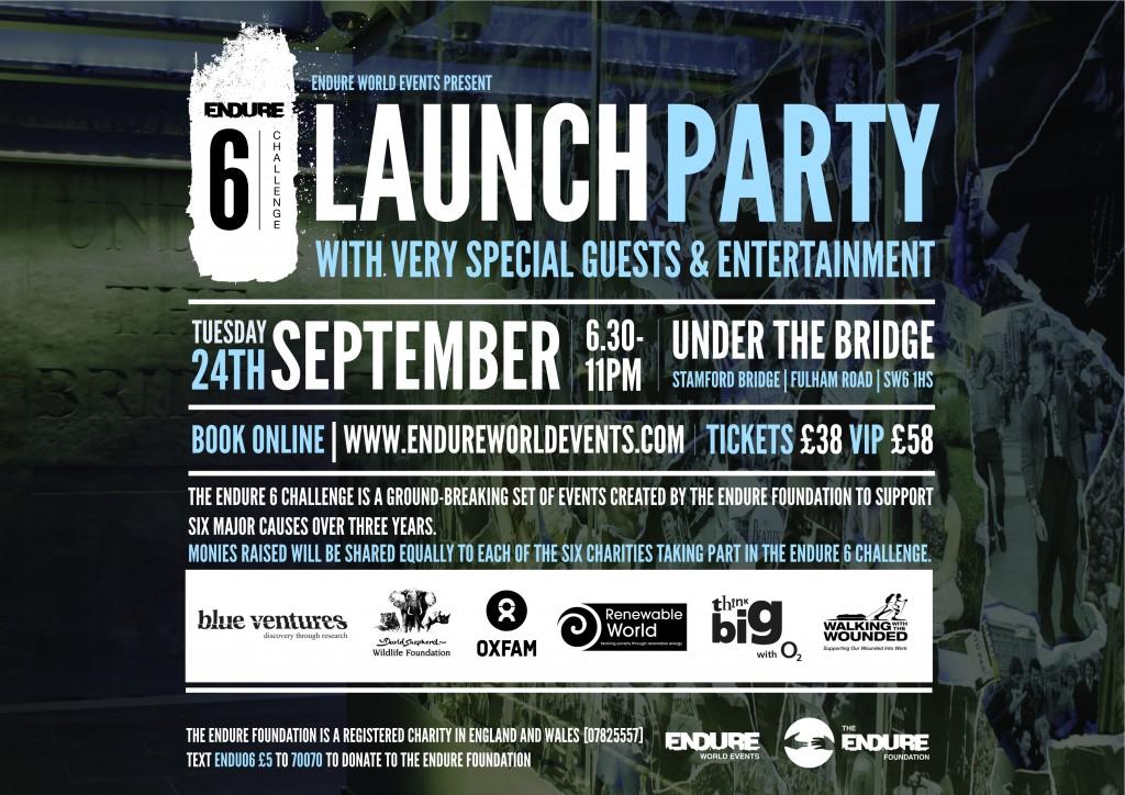 Endure Launch Party Invitation