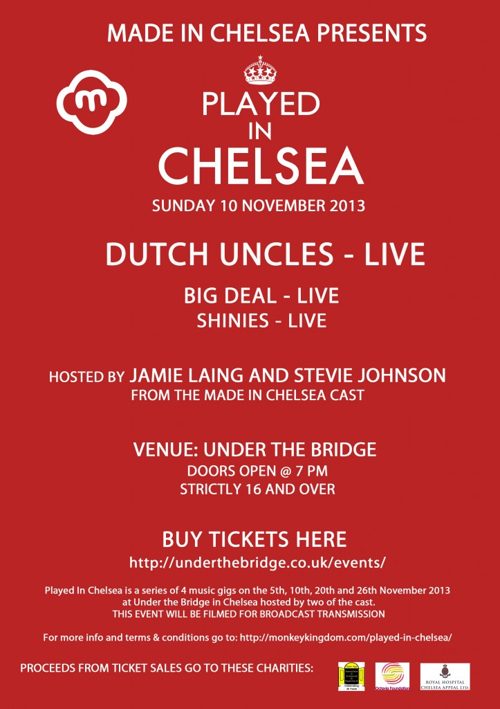 Played in Chelsea 10th Nov