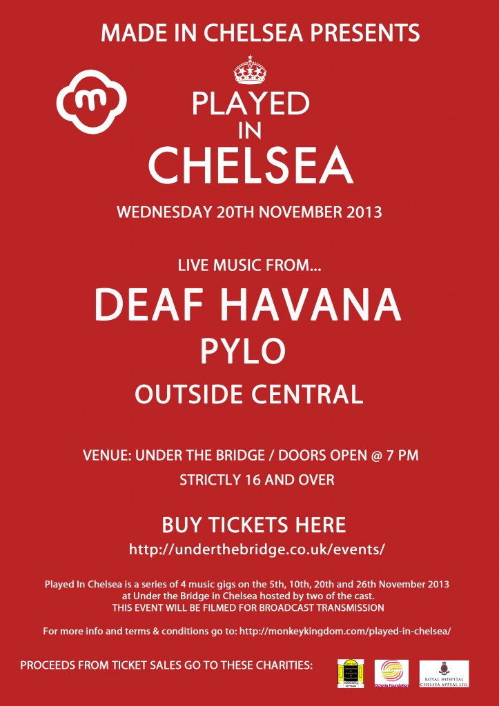Played in Chelsea 20th Nov