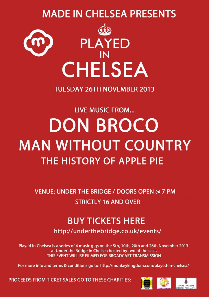 Played in Chelsea 26th Nov