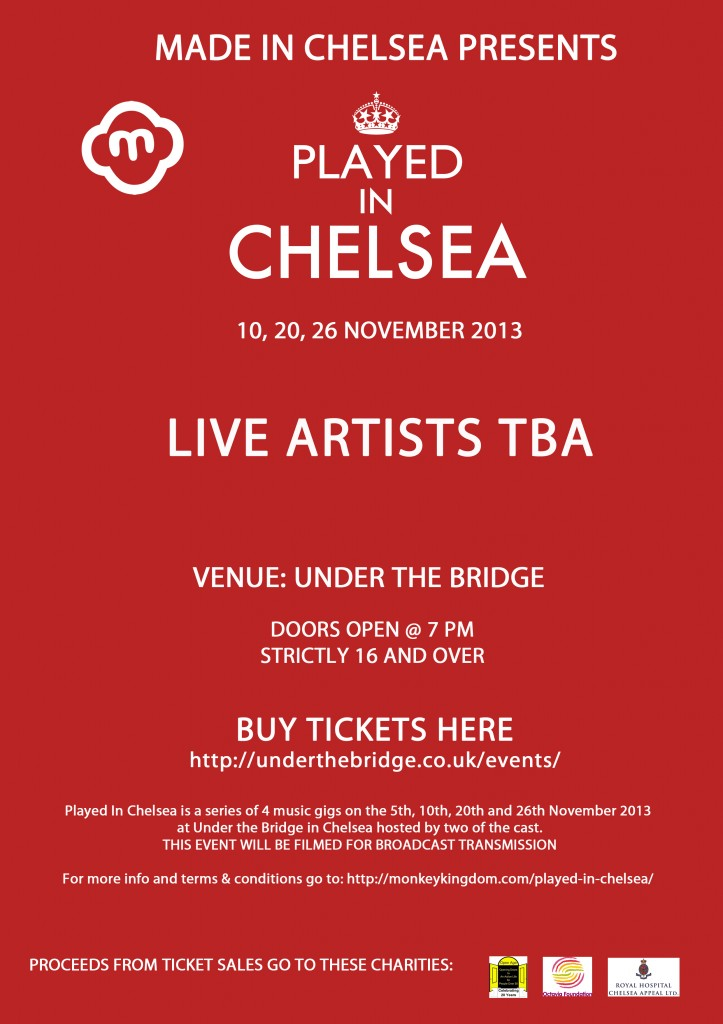 Played in Chelsea - Live Artists TBA