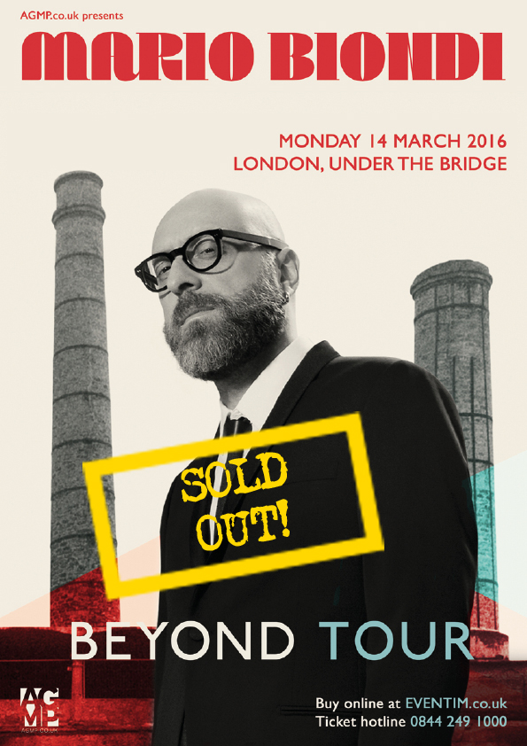 SOLD OUT Mario Biondi A4 Screen