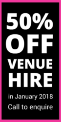 50% Off Venue Hire